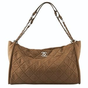 Chanel Tan Quilted Nubuck Tote 126664